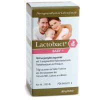 Probiotika: Lactobact BABY+ ist ein probiotisches Produkt mit 3 speziell ausgesuchten Bakterienkulturen. Besonders gut geeignet für Babys ab dem ersten Tag der Geburt. Bei Allergie-Kindern, die Neurodermitis oder Asthma haben.