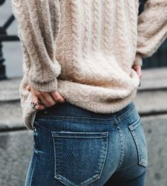 cableknits + mother jeans