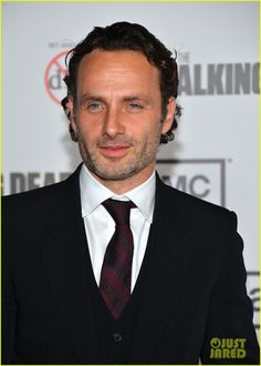 Andrew Lincoln with a salt & pepper beard/scruff....yes please!