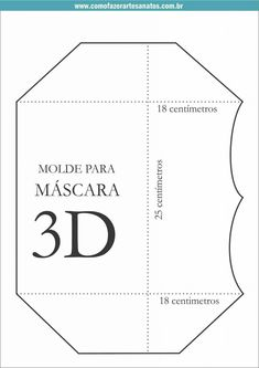 Sewing Hacks, Sewing Tutorials, Sewing Crafts, Easy Face Masks, Diy Face Mask, Mouth Mask Design, Mascara 3d, Mask Template, 3d Face