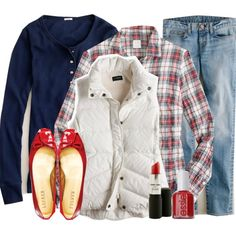 Layers with plaid shirt. This is pretty much my go to outfit :) With either flats or my Converse Chucks!