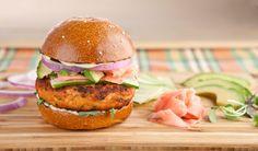 'California Roll' Salmon Burgers