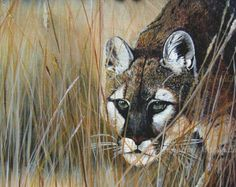 Painting 11x14 Cheetah Fresh Kill Original Painting by ArtByCy