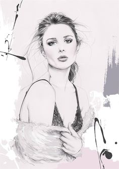Kelly Smith is a fashion illustrator, specializing in portraiture and beauty.