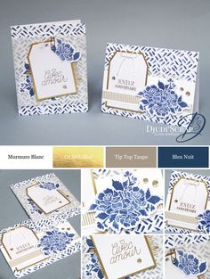 "Djudi'Scrap Stampin'Up! - Carte Anniversaire ""Kit Coffret de Souhaits Design / Designer Tin of Cards Project Kit"""