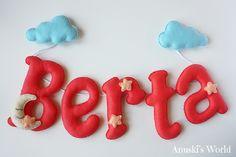 Nombre en fieltro Berta - Anuski´s World