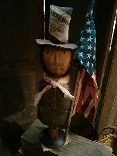 Primitive Abe President Make do Americana Patriotic by MeNtheGirls