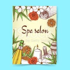Sketch spa poster royalty-free stock vector art