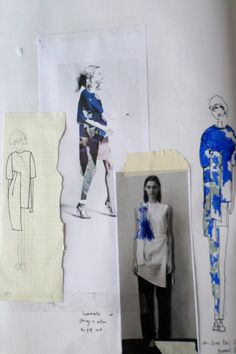 Fashion Sketchbook - fashion drawings & surface pattern development; fashion design portfolio layout // Louise Nutt