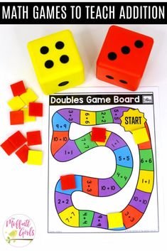 Print and play games- Fun math games to teach basic addition in First Grade!