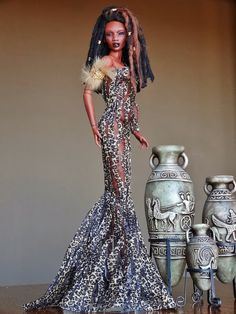 Collecting Fashion Dolls by Terri Gold: Picture of the Day by Liane Laughlin | The doll is Emilia's Inamorata Cherub. She is wearing a wig by Cheryl and a gown by Deva Doll.