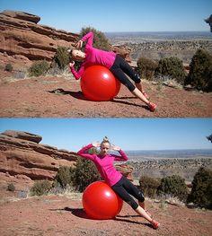 Ćwiczenie na piłce stabilizującej II