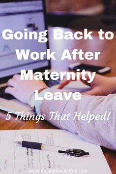 Going back to work after maternity leave can be tough. Here i share my tips and thoughts on what got me back into the work routine.
