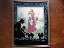VTG.1953 ADVERTISING SILHOUETTE PICTURE GOOD SHEPHERD ANCHOR GRAIN CO. ILL IL