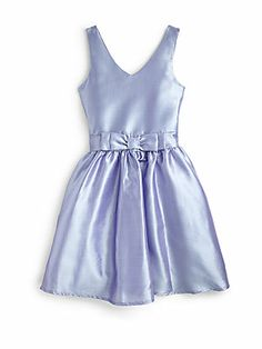 Un Deux Trois Girl's Jackie O Taffeta Dress - Faith maybe Graduation
