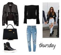 """""""10.3."""" by ronniebenett ❤ liked on Polyvore featuring RE/DONE, Alexis, Giuseppe Zanotti, HIDE and Hermès"""