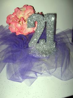 21st Birthday Party. love the silver. would be better with hot pink tool.