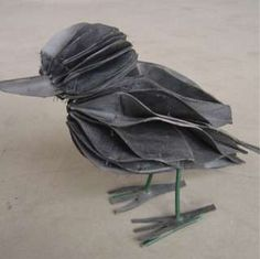 Bicycle innertube birds