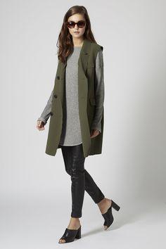 Premium Sleeveless Jacket - Jackets & Coats - Clothing - Topshop Europe
