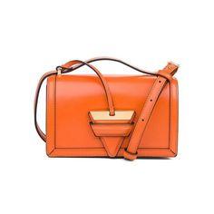 LOEWE Barcelona Small Bag Orange ($1,690) ❤ liked on Polyvore featuring bags, handbags, shoulder bags, crossbody, orange, shoulder strap handbags, mini purse, evening purses, orange purse and orange crossbody