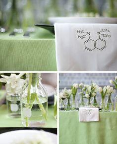 Weddings Unveiled Magazine Blog: Styled Inspiration ~ Organic Chemistry Chic