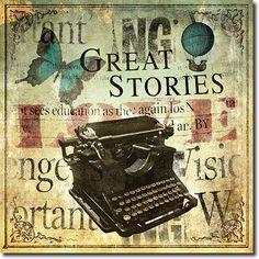 Máquina de Escribir Vintage - Great Stories