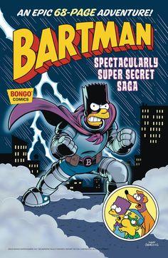 Batman the Simpson's Bongo comics Super Secret, Moving Pictures, Saga, Mystery, Batman, Marvel, Entertaining, Adventure, Superhero