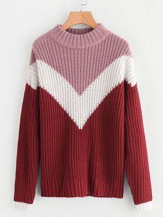 Chevron Long Women Sweater - Arm Knit Pink Red and White Chevron Sweater - Handmade Wool Chevron Sweater Knitting Colors Chevron Sweater Wool, Knitting Terms, Arm Knitting, Sweater Knitting Patterns, Chevron, Knit Fashion, Men Fashion, Korean Fashion, Fashion Tips, Carpe Diem