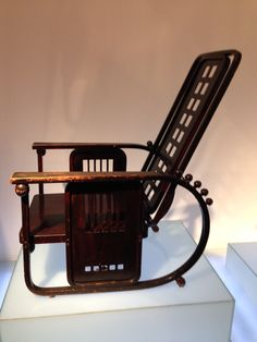 Chair by Josef Hoffmann at the Hofmobiliendepot, originally the furniture storage of the Hapsburg Dynasty and now a superb museum.