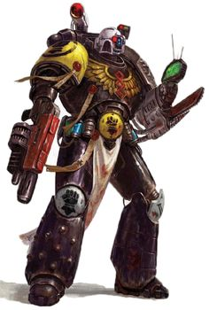 Imperial Fist Deathwatch apothecary, a bit lost inside a huge space hulk, with too many beeps showing up on the scanner for his own good. Voice in the Dark Warhammer 40000, Warhammer Art, Warhammer Fantasy, Deathwatch, Fantasy Heroes, Imperial Fist, The Grim, Space Marine, Marines