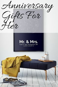 Custom star maps make a great anniversary gift for him. Give him a framed picture of what the stars looked like when you first met, married, or got engaged - whether it's your one year anniversary or your 20 year anniversary.