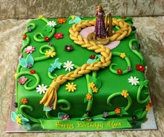 Rapunzel cake - by House of Cakes Dubai @ CakesDecor.com - cake decorating website