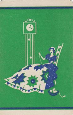 Vintage-Swap-Playing-Card-1-SINGLE-LADIES-SEWING