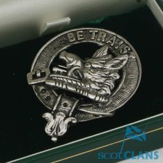 Solid Silver Clan Crest Badge