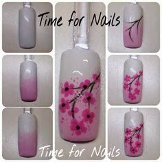 Orchid Nail: Tuto cerisier chinois