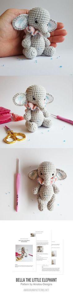 Bella The Little Elephant Amigurumi Pattern