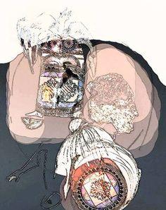 "Saatchi Art Artist Ioana Serban; Drawing, ""Sharply-honed Heartbeat"" #art Heartbeat Tv Show, Most Beautiful Pictures, Saatchi Art, Drawings, Artist, Anime, Image, Artworks, Artists"