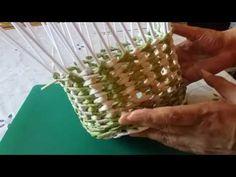 Плетение из газетных трубочек. Новая корзиночка:)) - YouTube