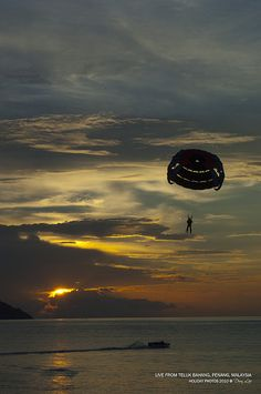 Paragliding over Sunset