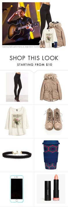 """""""Watching Niall's performance at Jingle Bell in Toronto"""" by one-direction-makes-me-strong ❤ liked on Polyvore featuring H&M, Loeffler Randall, Vanessa Mooney, Jonathan Adler, Lilly Pulitzer, Monki, ASOS, NiallHoran, 2016 and jinglebell"""