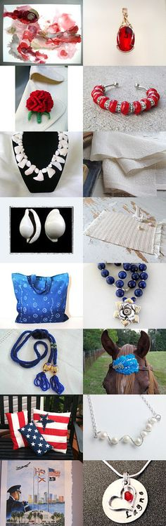 Red,white and blue by TREE on Etsy--Pinned with TreasuryPin.com #Estyhandmade #giftideas #summerfinds