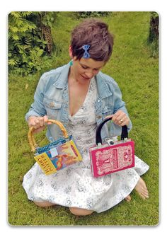 I made myself a handbag out of a book my Mum gave me for my 40th birthday. Next, I made a Harry Potter handbag for my eldest daughter. Gradually, I worked out the best way to make bags out of books :) I've now made and sold more than 600 book handbags and purses through Etsy, my own website: www.bagsymefirst.com and at gift fairs. So, although they may look quirky you can be assured that they are beautifully and sturdily made. I know how to build a great book bag :)