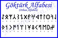 Old Turkish alphabeth from Orhun.