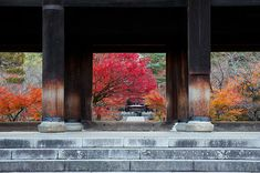 Nanzenji Temple. Autumn leaves and the beautiful visual phenomena of framing. JNTO