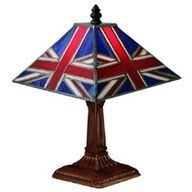 Union Jack Stained Glass Lamp