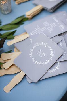 wedding ceremony program idea; photo: Greer G Photography