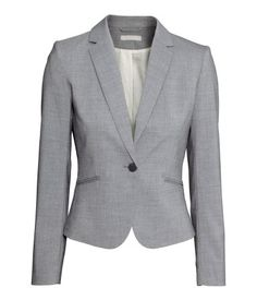 Grey fitted jacket | H&M US