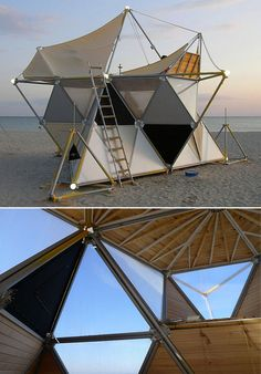 Modular geometric tent / archinoma.. I'm putting this in Home because I think I would definitely live in this place!