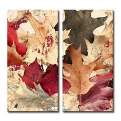 Found it at Wayfair - Fall Ink IX 2 Piece Graphic Art on Wrapped Canvas Set