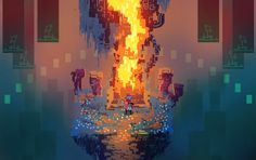 Hyper Light Drifter by Heart Machine. One beautiful scene from a beautiful game.